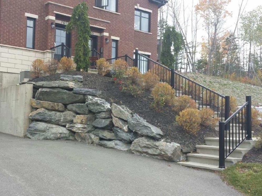 escalier de roches